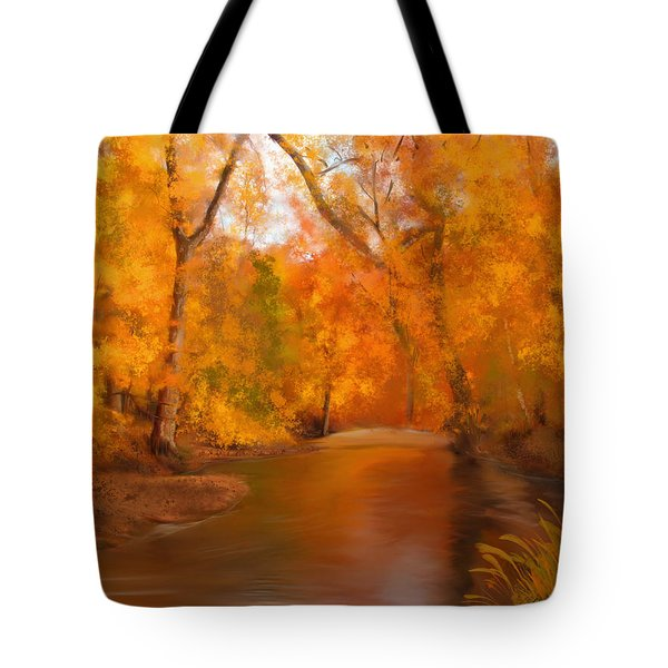 New England Autumn In The Woods Tote Bag
