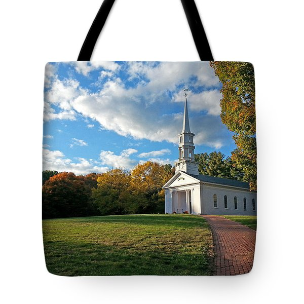 New England Church Tote Bag