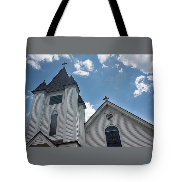New England Church Tote Bag by Suzanne Gaff