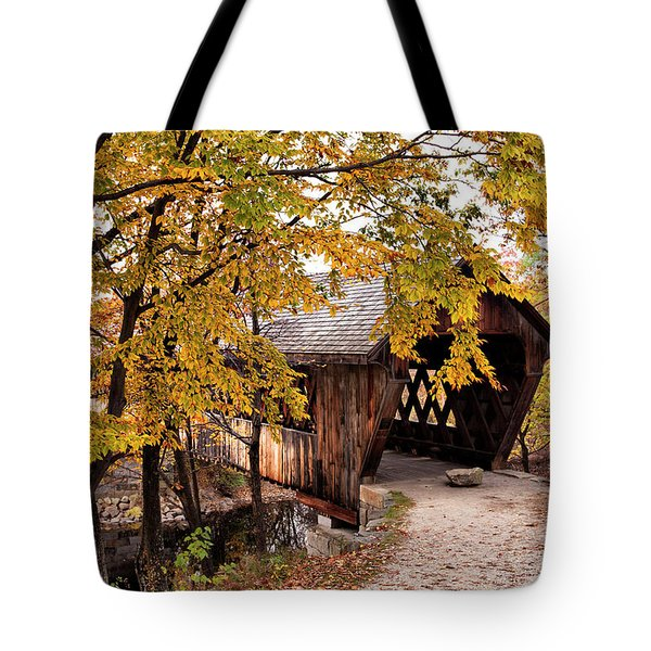 New England College No. 63 Covered Bridge  Tote Bag