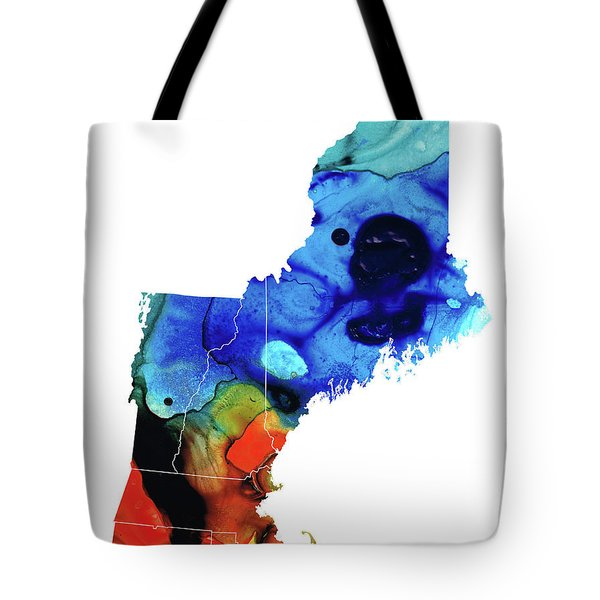 New England - Map By Sharon Cummings Tote Bag