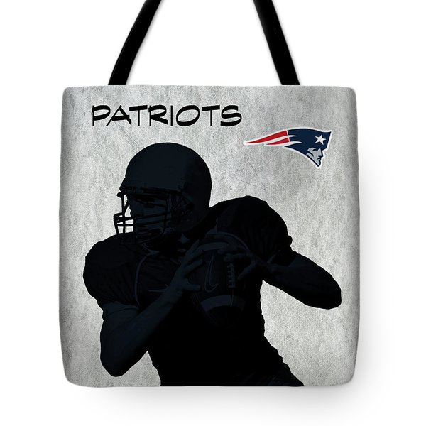 Tote Bag featuring the digital art New England Patriots Football by David Dehner