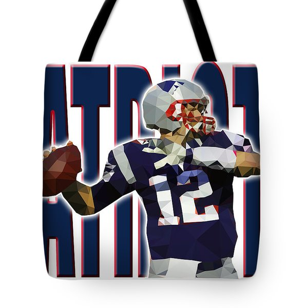 Tote Bag featuring the digital art New England Patriots by Stephen Younts