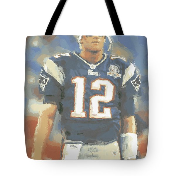 New England Patriots Tom Brady Tote Bag