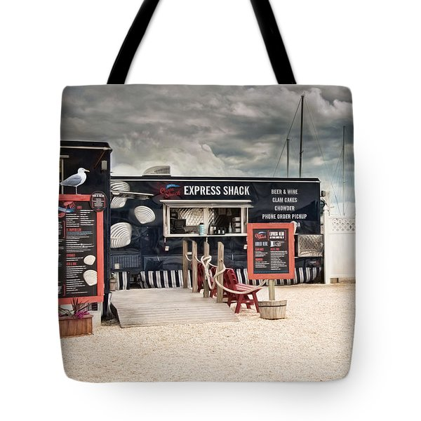 Tote Bag featuring the photograph New England Seafood Express by Robin-Lee Vieira