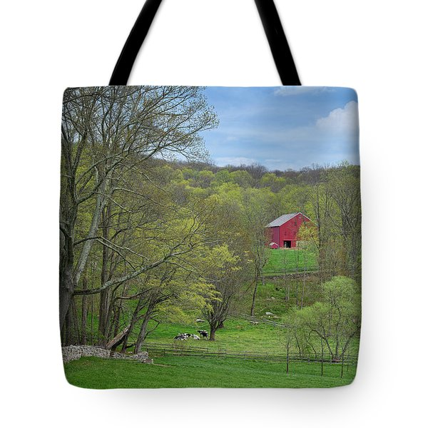 Tote Bag featuring the photograph New England Spring Pasture by Bill Wakeley