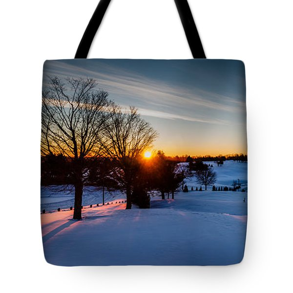 New England Sunrise Tote Bag