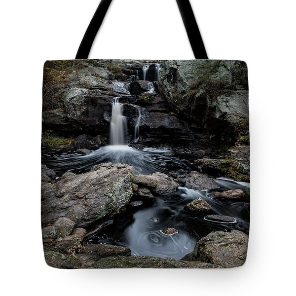 New England Waterfall In Autumn Tote Bag