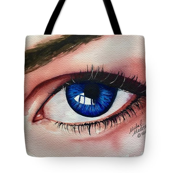 Tote Bag featuring the painting New Eyes by Michal Madison