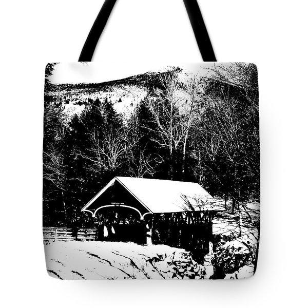 New Hampshire Covered Bridge Tote Bag