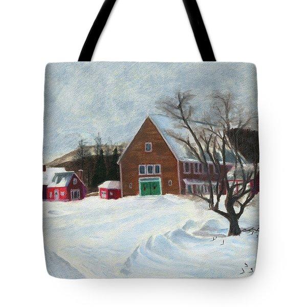 New Hampshire Farm In Winter Tote Bag