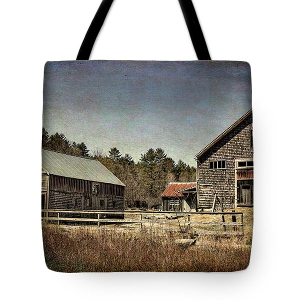 Tote Bag featuring the photograph New Hampshire Old Barn  by Betty Pauwels