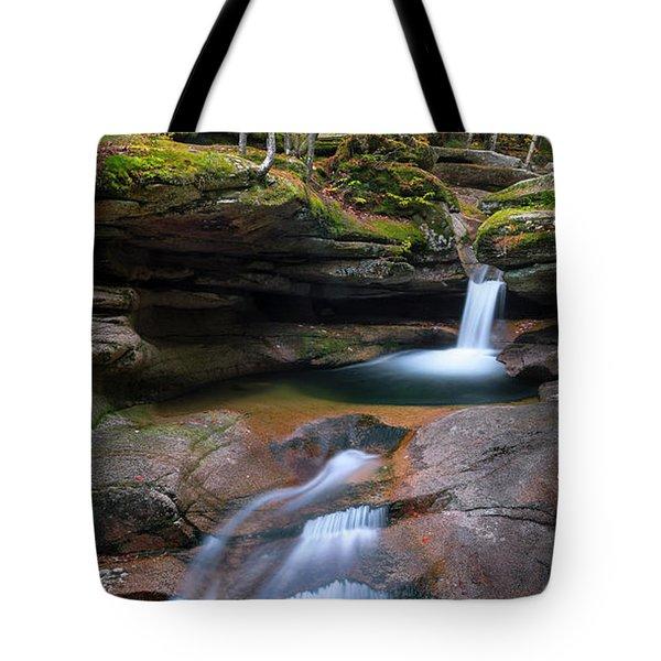 New Hampshire Sabbaday Falls Panorama Tote Bag