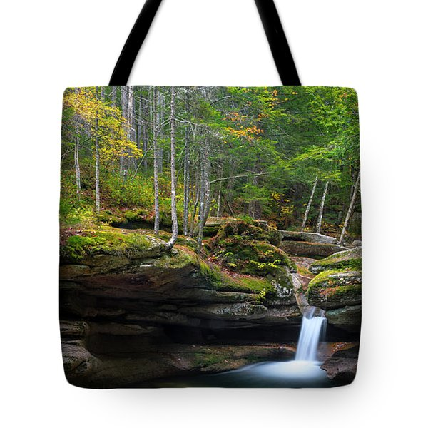 New Hampshire Sabbaday Falls Panorama Tote Bag