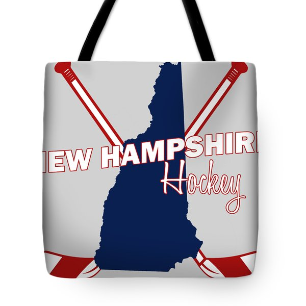 New Hampshire State Hockey Tote Bag