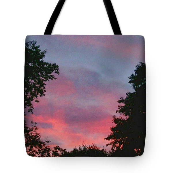 Tote Bag featuring the digital art New Hampshire Sunset by Barbara S Nickerson