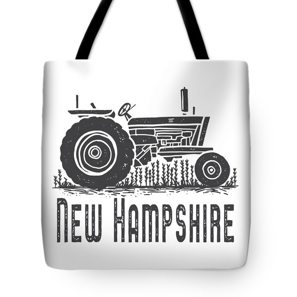 Tote Bag featuring the digital art New Hampshire Vintage Tractor by Edward Fielding