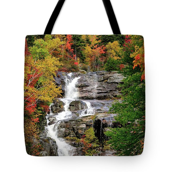 New Hampshire Waterfall Tote Bag by Betty LaRue