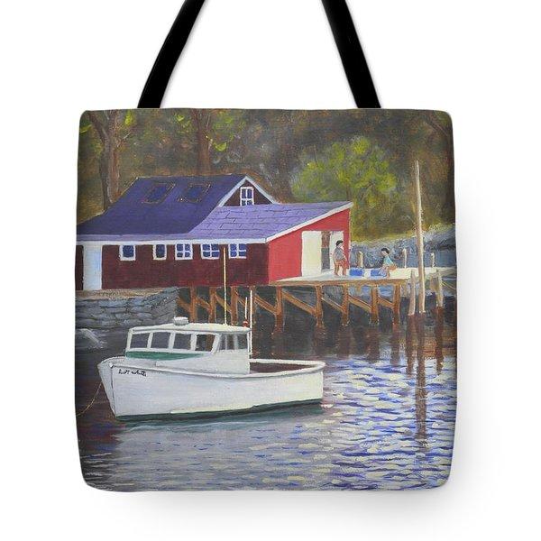 New Harbor Sunrise Tote Bag