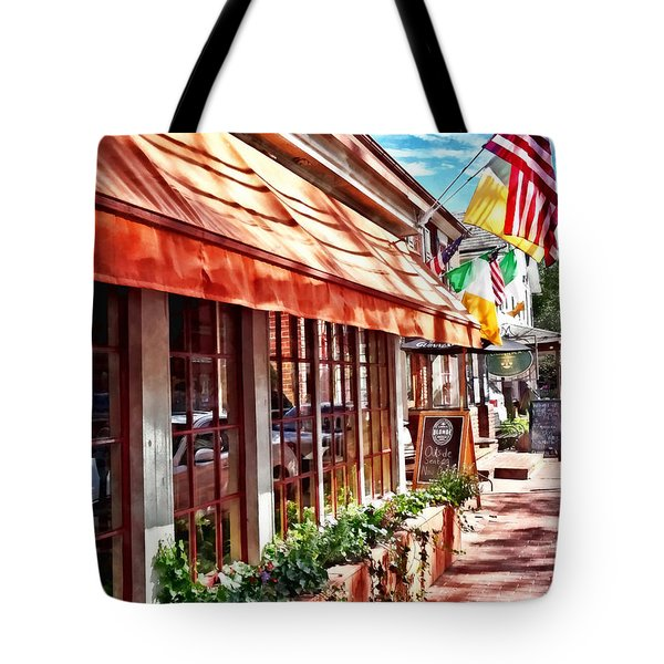 New Hope Pa - Outdoor Seating Now Open Tote Bag