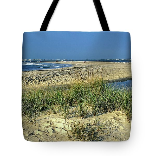 New Jersey Inlet  Tote Bag by Sally Weigand