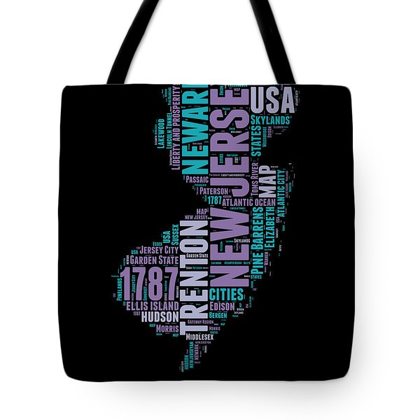 New Jersey Word Cloud 1 Tote Bag