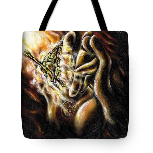 Tote Bag featuring the painting New Journey by Hiroko Sakai