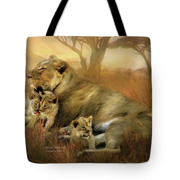 New Life Tote Bag by Carol Cavalaris