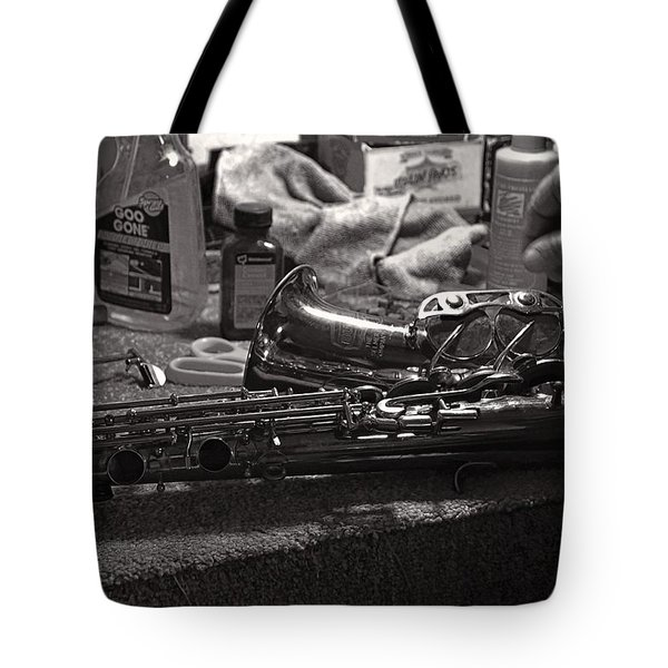 New Life For A Old Saxophone Tote Bag