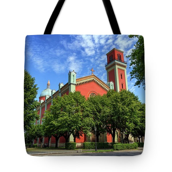 New Lutheran Church In Kezmarok, Slovakia Tote Bag by Elenarts - Elena Duvernay photo