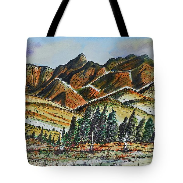 Tote Bag featuring the painting New Mexico Back Country by Terry Banderas