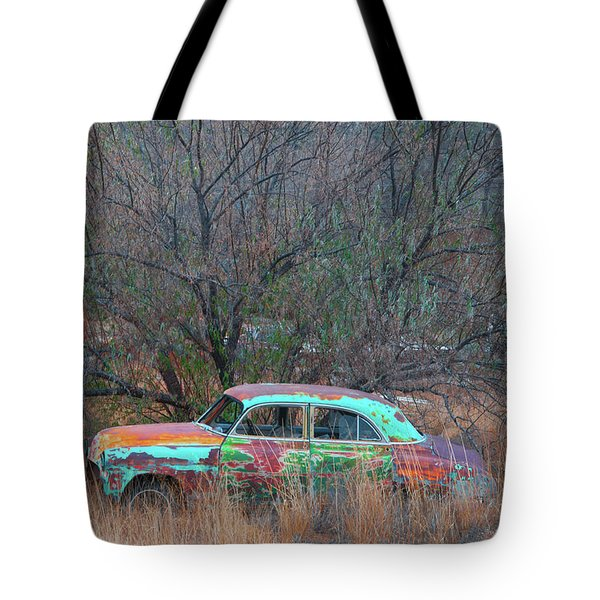 New Mexico Blue Tote Bag by Carolyn Dalessandro