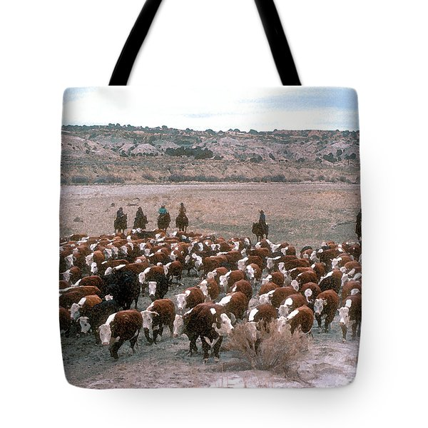 New Mexico Cattle Drive Tote Bag by Jerry McElroy