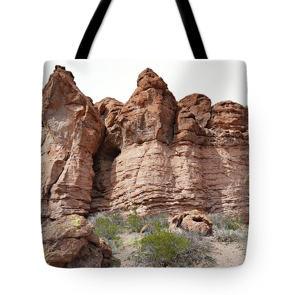Tote Bag featuring the photograph New Mexico Mountain Canyon by Andrea Hazel Ihlefeld