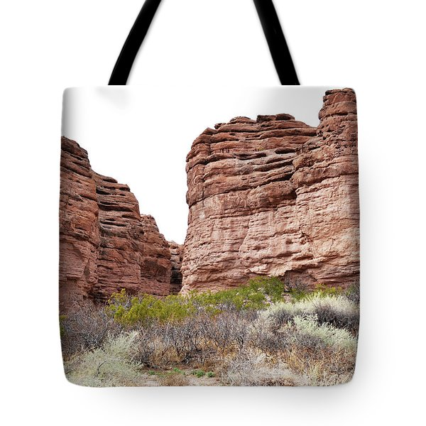 Tote Bag featuring the photograph New Mexico Red Rock Mountain Canyon by Andrea Hazel Ihlefeld
