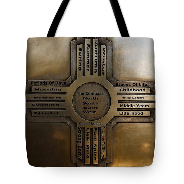 Tote Bag featuring the photograph New Mexico State Symbol The Zia by Joseph Frank Baraba