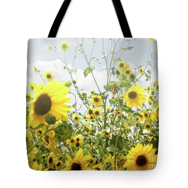 Tote Bag featuring the photograph New Mexico Sunflowers by Andrea Hazel Ihlefeld