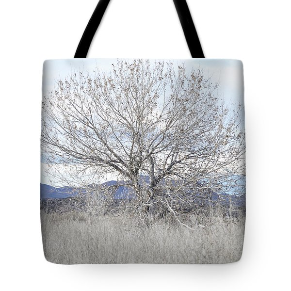 Tote Bag featuring the photograph New Mexico Tree Mountain Landscape by Andrea Hazel Ihlefeld