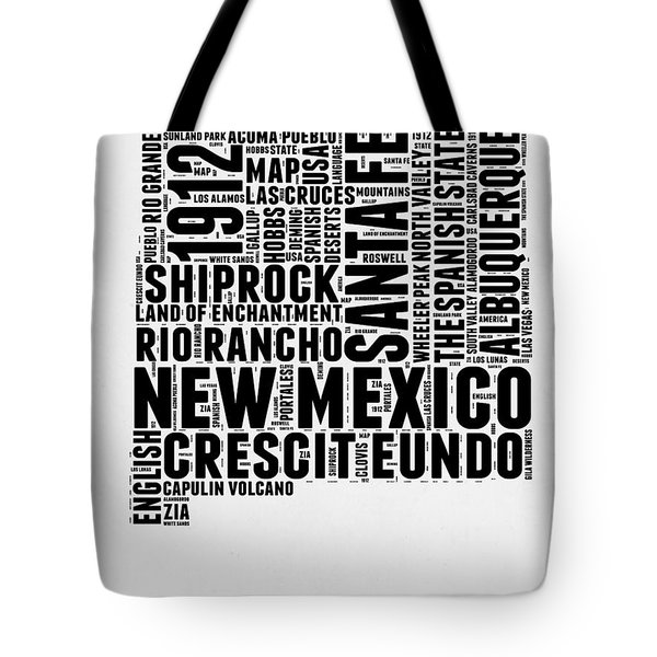New Mexico Word Cloud Map 2 Tote Bag