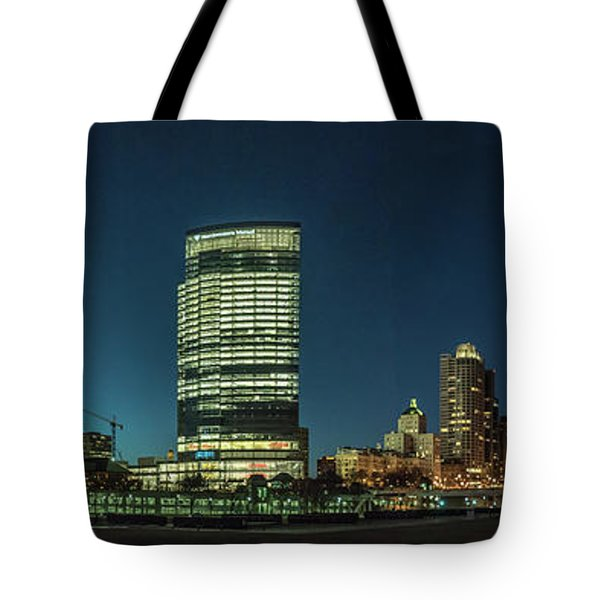 Tote Bag featuring the photograph New Milwaukee Skyline by Randy Scherkenbach