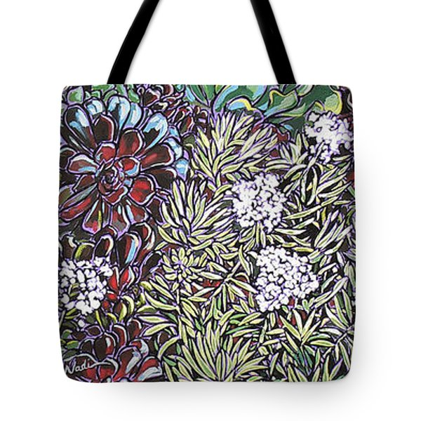 Tote Bag featuring the painting New Moon Boutique by Nadi Spencer