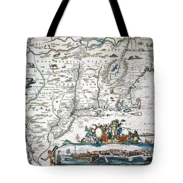 New Netherland Map Tote Bag by Granger