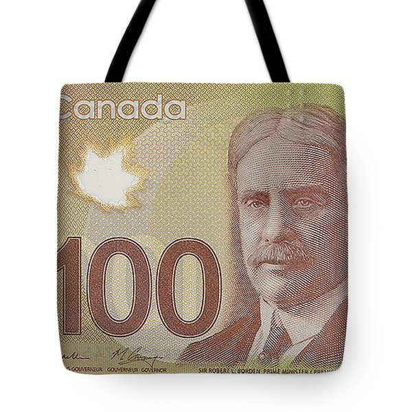 New One Hundred Canadian Dollar Bill Tote Bag