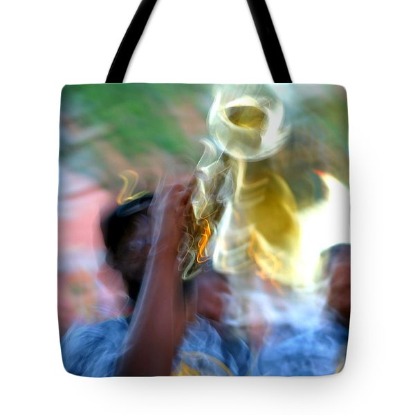 New Orleans Abstract Street Jazz Performance Tote Bag