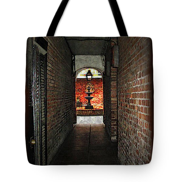 New Orleans Alley Tote Bag