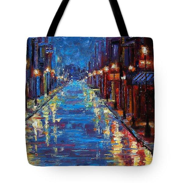 New Orleans Bourbon Street Tote Bag by Debra Hurd