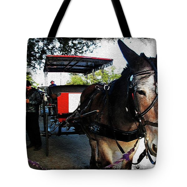 New Orleans Carriage Ride Tote Bag by Joan  Minchak