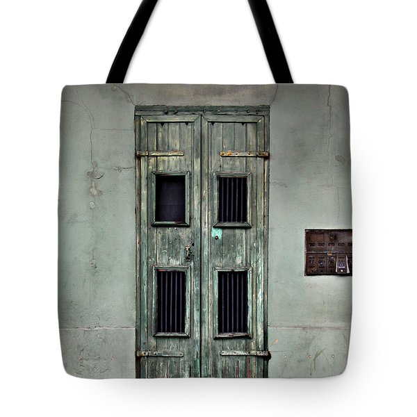 New Orleans Green Doors Tote Bag