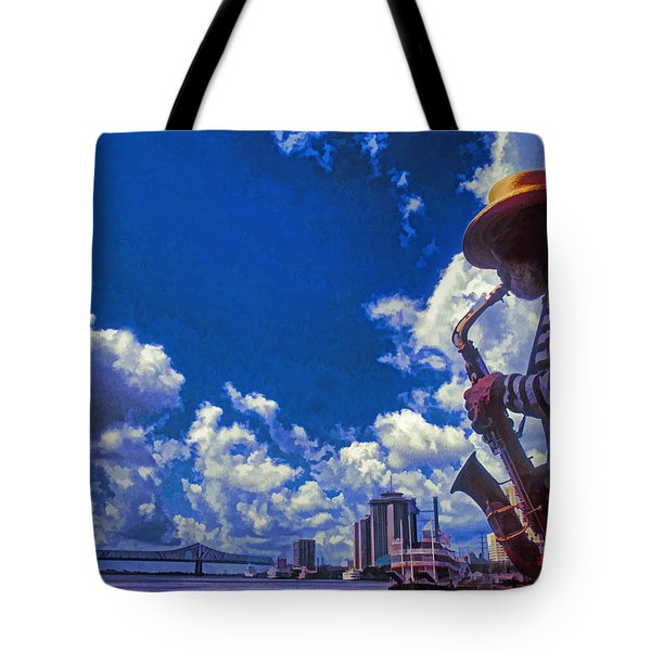 New Orleans Jazzman Tote Bag by Dennis Cox