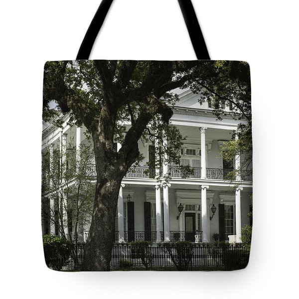 New Orleans Mansion Tote Bag by Anne Witmer
